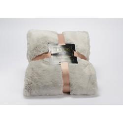 Plaid luxe 130x170 gris clair