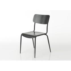 Chaise en bois noir Écolier