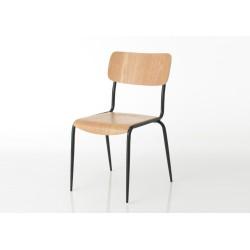 Chaise en bois naturel Écolier