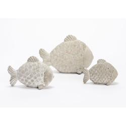 Set de 3 poissons pierre
