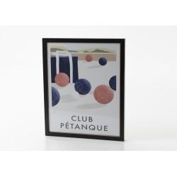 Affiche club pétanque 40x50 cm