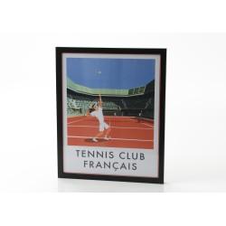 Affiche tennis club 40x50 cm