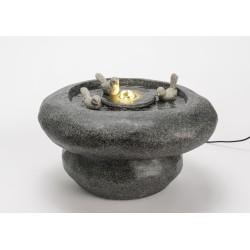 Fontaine grise en résine...