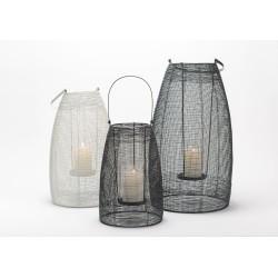Set de 3 lanternes noir et...