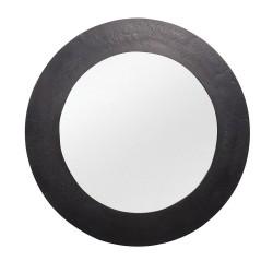 Miroir rond 50 cm nickel