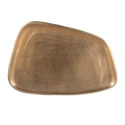 Plateau trapèze en métal doré