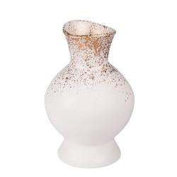 Vase cléo blanc et or 23 cm