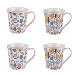 Coffret 4 mugs 35 cl wally...