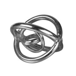 Sculpture en métal argenté...