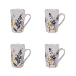 Coffret 4 mugs 35 cl flora...