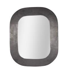 Miroir en métal noir 60x76 cm