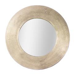 Miroir rond en métal doré...