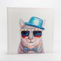 Tableau chat festif