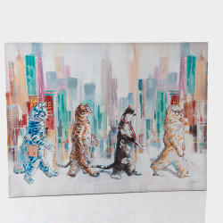 Tableau 4 chats urbains