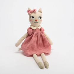 Peluche chat Louise
