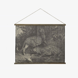 Kakemono jaguar 97x75 cm
