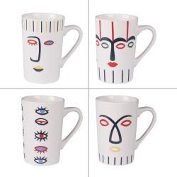 Coffret de 4 mugs 35 cl Awa
