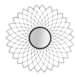 Miroir Mandala noir D65 cm