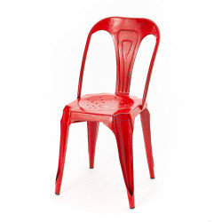 Chaise Bistrot Métal rouge