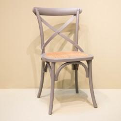 Chaise à croisillon gris