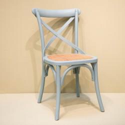 Chaise à croisillon vert d'eau