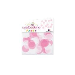 Confettis blanc rose