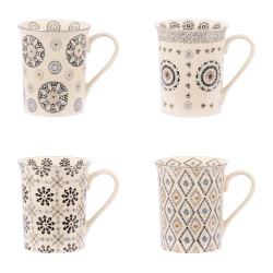 Coffret 4 mugs Nelson 30 cl