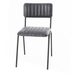 Chaise cuir (lot de 2)