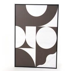 Toile Moderne noir et blanc...
