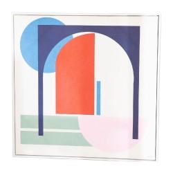 Toile carrée colorée 80x80