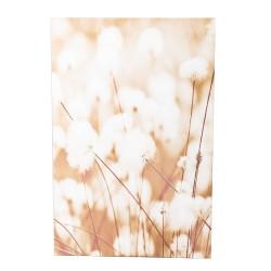 Toile fleurs de coton 80x120