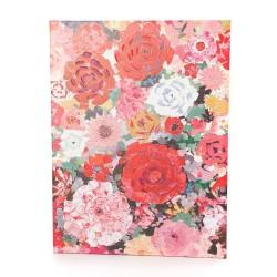 Toile Panachée fleuri 90x120