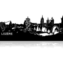 Plaque en métal Lozère 120cm