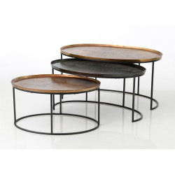 Tables basses ovales