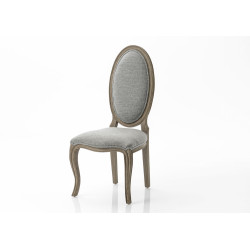 Chaise ovale grand format...