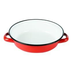 Plat à œuf 18 cm émaillé rouge