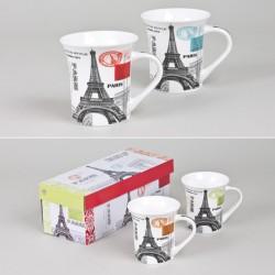 Coffret de deux mugs paris...