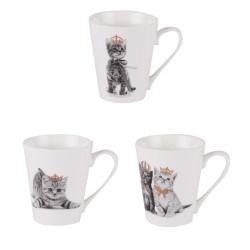 Mug chaton roi 35 cl (lot...