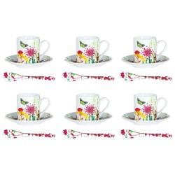 Set 6 tasses / sous tasses...