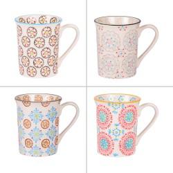 Coffret de 4 mugs décors...