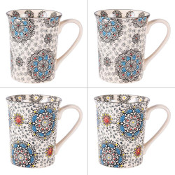 Coffret de 4 mugs 30 cl Samana