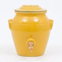 Vinaigrier en grès jaune...