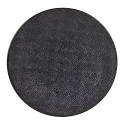 Assiette Vésuvio noir 31 cm