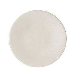 Assiette Vésuvio blanc 31 cm