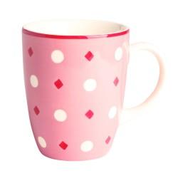 Mug b&co pois 30 cl rose