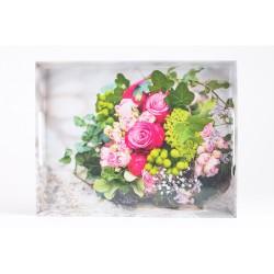 Plateau bouquet 40x31cm