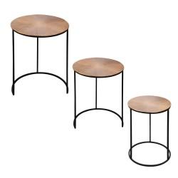 Set de 3 tables 34 x 40 x...