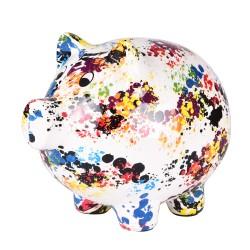 Tirelire cochon granito h15 cm