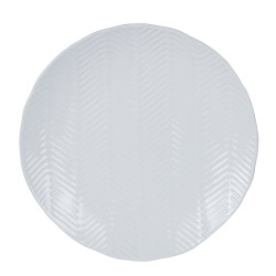 Plat rond palm blanc 36 cm