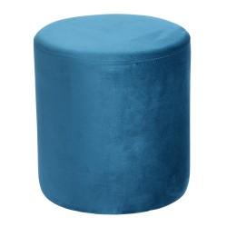 Pouf joye velours 40 cm bleu